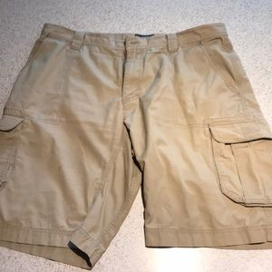 North Face Khaki Cargo Shorts